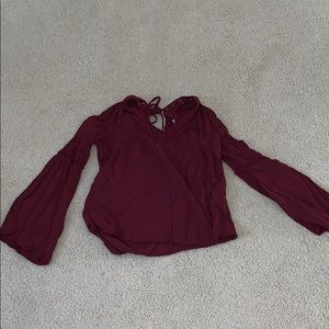 Cute comfy burgundy blouse
